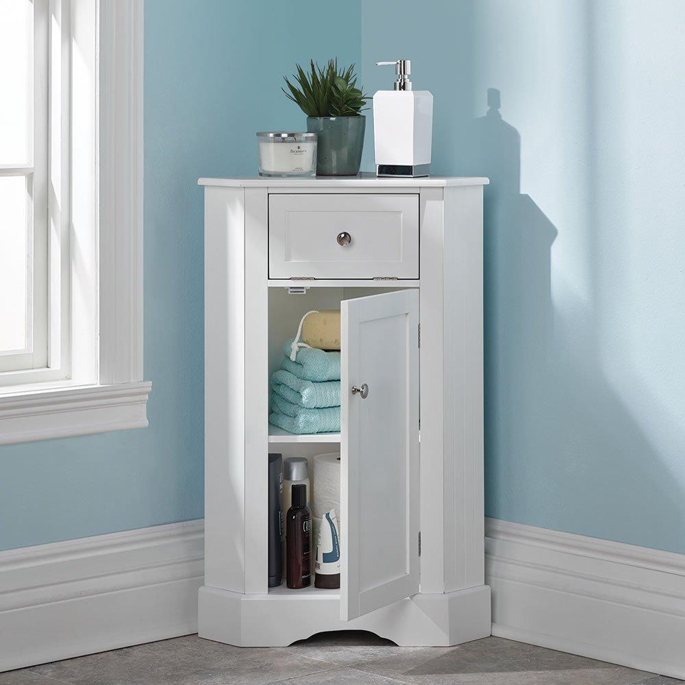 Hammacher Schlemmer The Bathroom Corner Cabinet