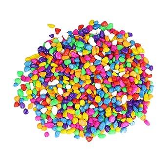 Balacoo Rocas Trituradas de Colores para Acuario Pecera Diy Piedras de Grava Irregulares Adornos Decoración de Peceras de Jardín Guijarros Mini Rocas para Maceta (1000G): Amazon.es: Industria, empresas y ciencia