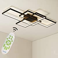 Jaycomey Dimmable Ceiling Light,3 Squares Modern LED Ceiling Lamps with Remote Control,50W Acrylic Flush Mount Ceiling…