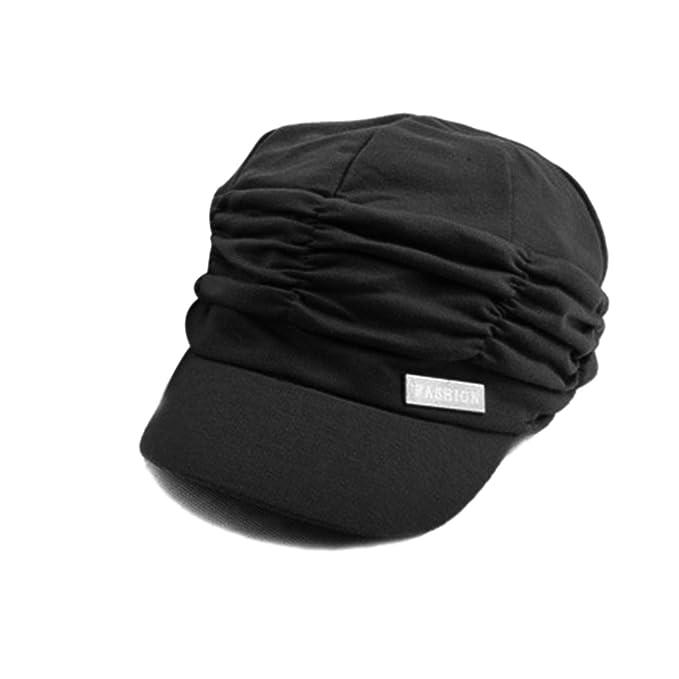 UKURO Solid Hat Women Autumn Winter Gorras Mujer Knit hat Pleated Newsboy Cap Warm Outdoors Visor