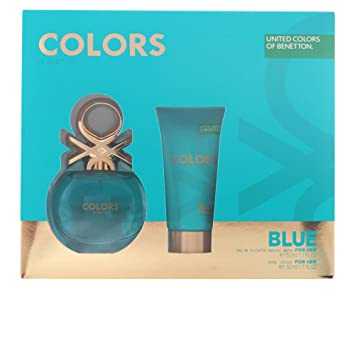 Benetton Colors Blue Set de Agua de Colonia y Loción Corporal - 100 ml: Amazon.es: Belleza