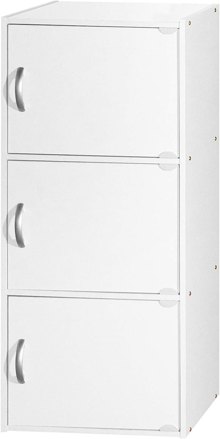 HODEDAH IMPORT HID3 White Bookcase