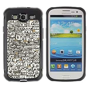 Suave TPU GEL Carcasa Funda Silicona Blando Estuche Caso de protección (para) Samsung Galaxy S3 III I9300 / CECELL Phone case / / Stylish Buildings Architect Pen Art /