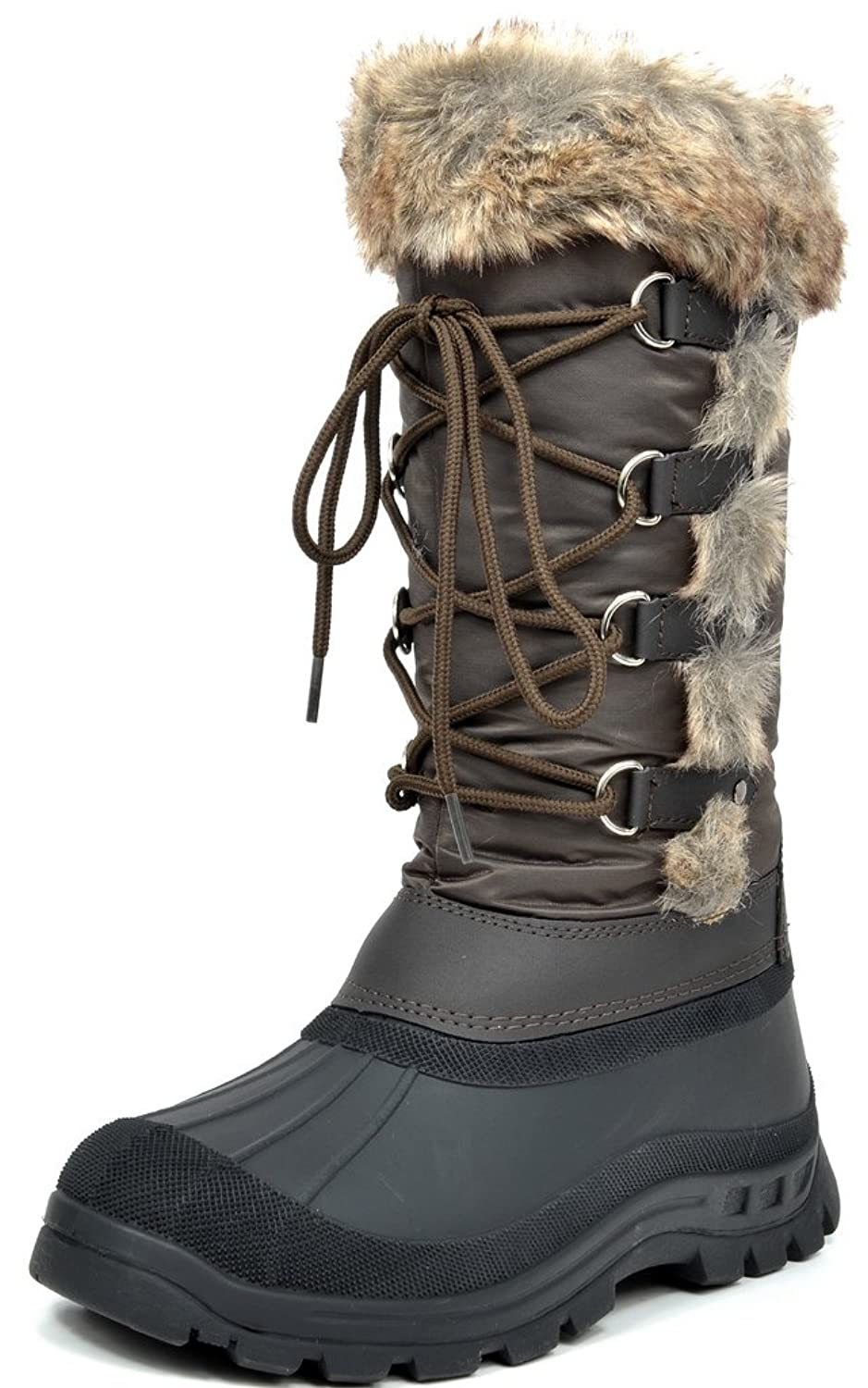 ARCTIV8 CATSKILL Women's Winter Knee High Fur Lining Cozy Warm Water Resistant Snow Boots