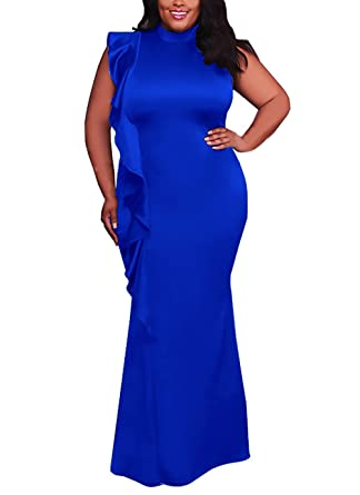 1b4b20e7a2 Damen Abendkleider Lang Große Größen Slim Fit Cocktailkleid Sommer Mädchen Kleidung  Elegant Vintage Festliche Kleider Ärmellos