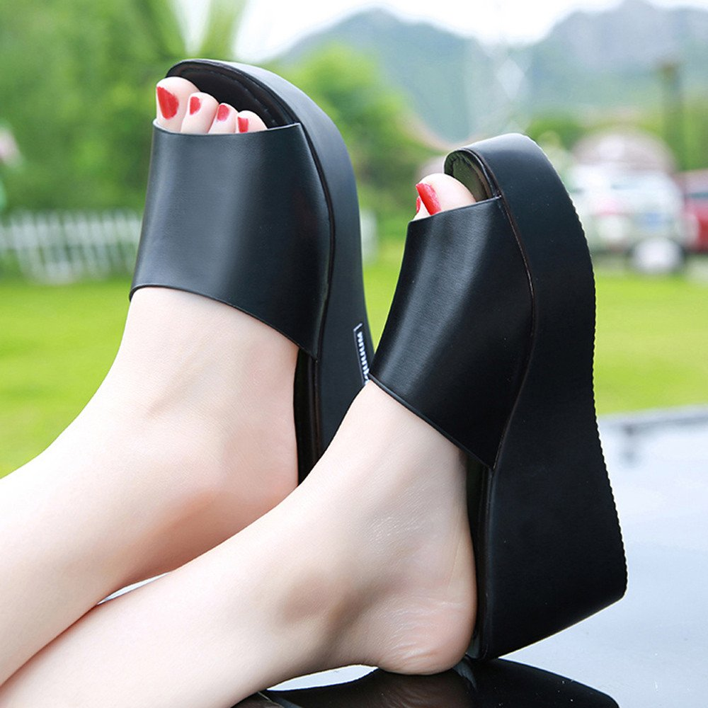7dc3a55eb3 Amazon.com: Women Wedge Platform Sandals, NDGDA Fish Mouth Slope Sandals  Slippers: Toys & Games