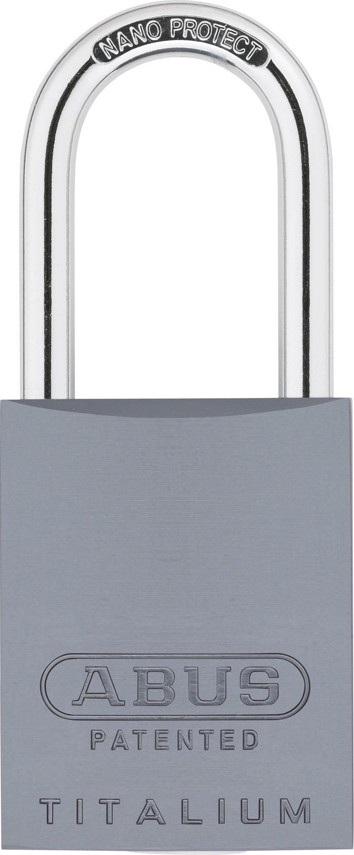 ABUS 83AL/40-300 Aluminum Padlock Titanium Keyed Different