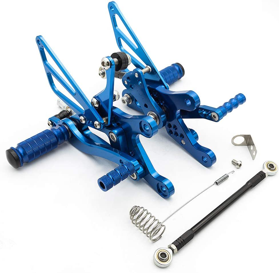 FXCNC Racing 04-06 R1 Billet Motorcycle Rearset Foot Pegs Rear Set Footrests Fully Adjustable Foot Boards Fit For Yamaha YZF R1 2004 2005 2006