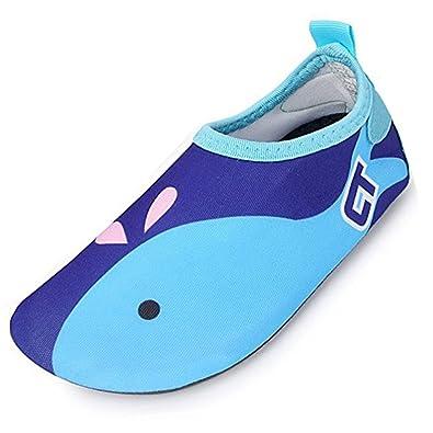 SUADEX Niños Niña Zapatos de Agua Descalzo Barefoot Respirable Zapatos de Playa Aire Libre Calcetines de Natación Piscina Surf Yoga: Amazon.es: Zapatos y ...