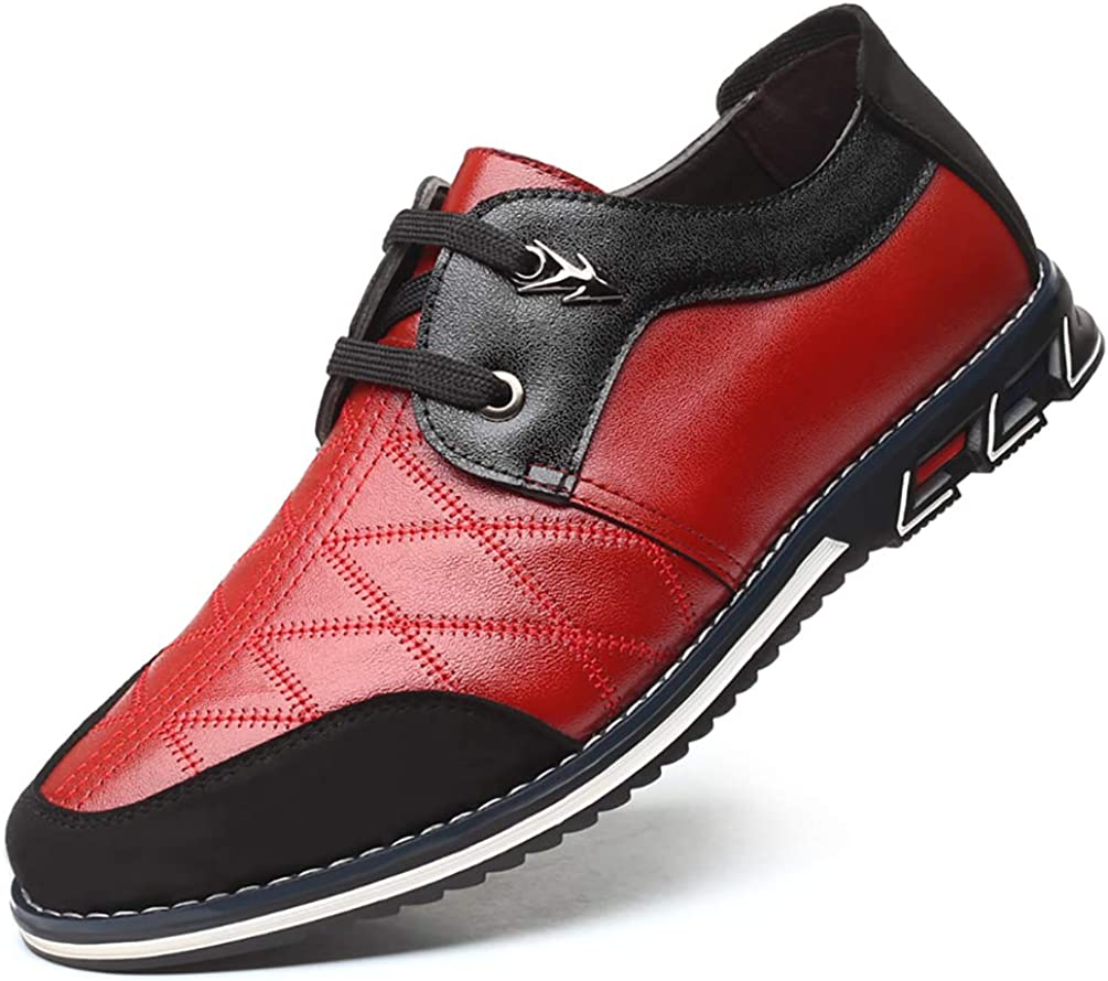 Simple and Versatile Leather Shoes Low-Help Business Casual Shoes for Mens