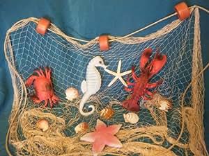 6 X 8 Fishing Net, Fish Netting, Floats, Starfish, Rope, Nautical Decor, Fish Net by Florida Nets
