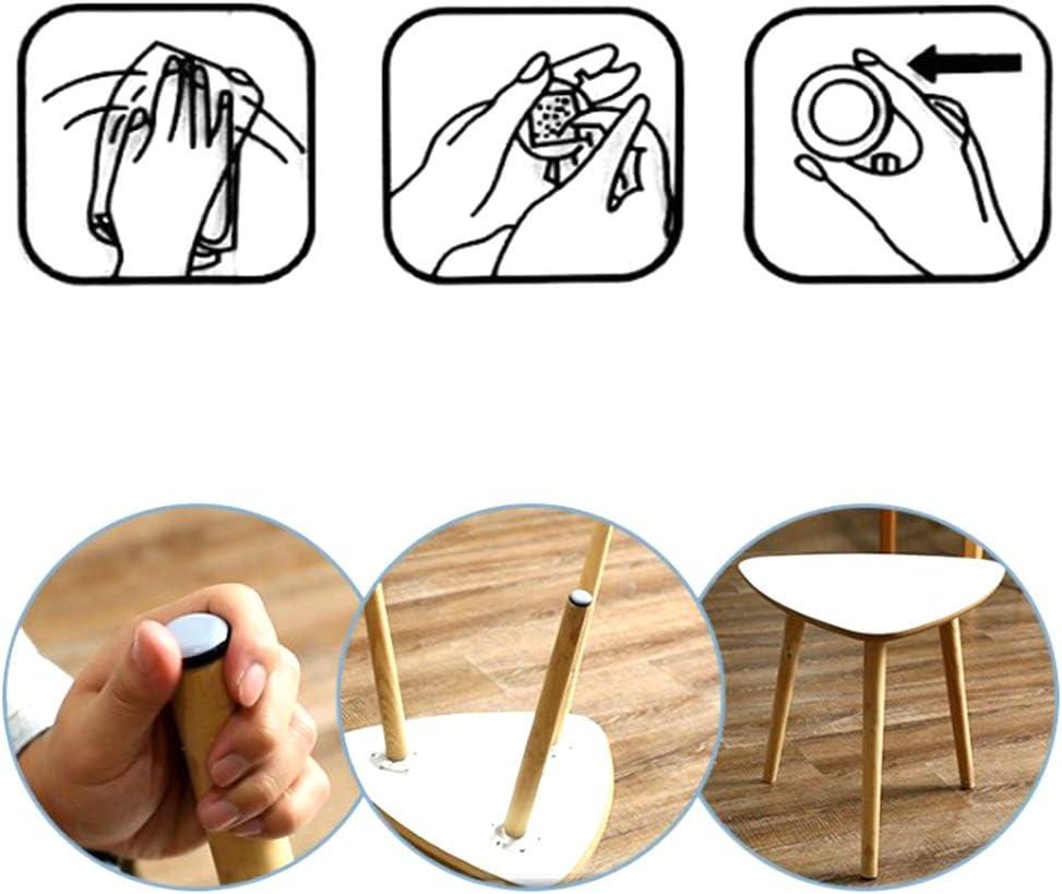 Jixista Tefl/ón para Muebles Furniture Sliders Protectores para Muebles Deslizadores de Tefl/ón Protectores de Piso die Deslizadores de PTFE 20MM de Muebles Patines Almohadillas Deslizadores 12pcs