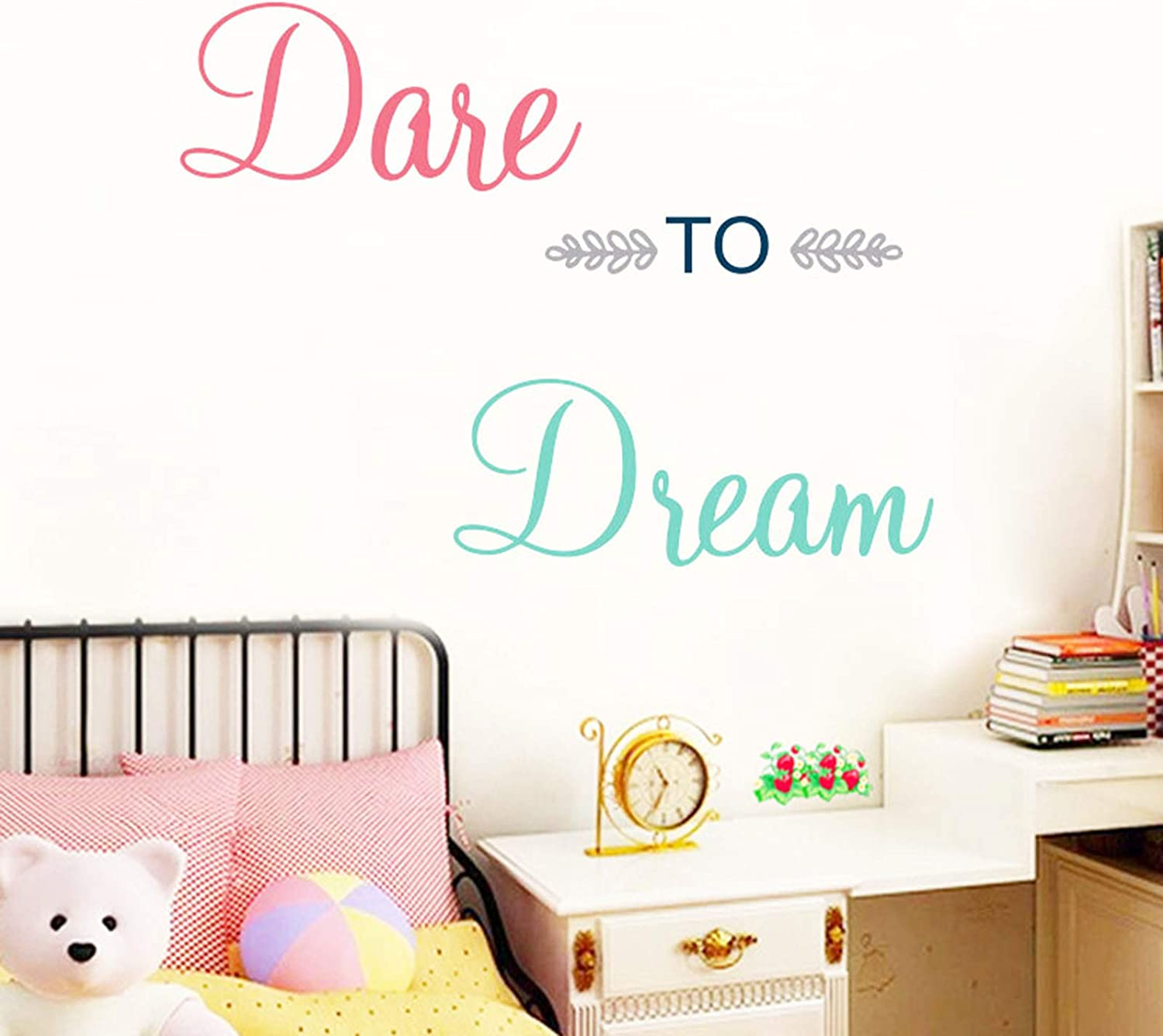 Inspirational Wall Decor Quotes for Boy Girl Room –Dare to Dream– Decor for Living Room Bedroom Classroom Playroom Nursery Girls Boys Room Wall Decals Decorations