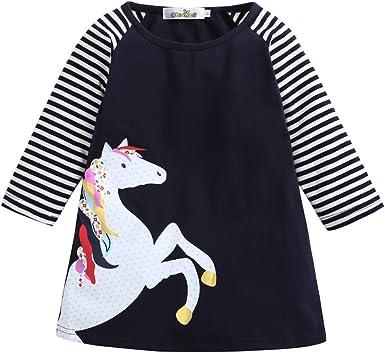 Love Heart Horse Baby Girls Short Sleeve Ruffle Tee Cotton Kids T Shirts 2-6 Years