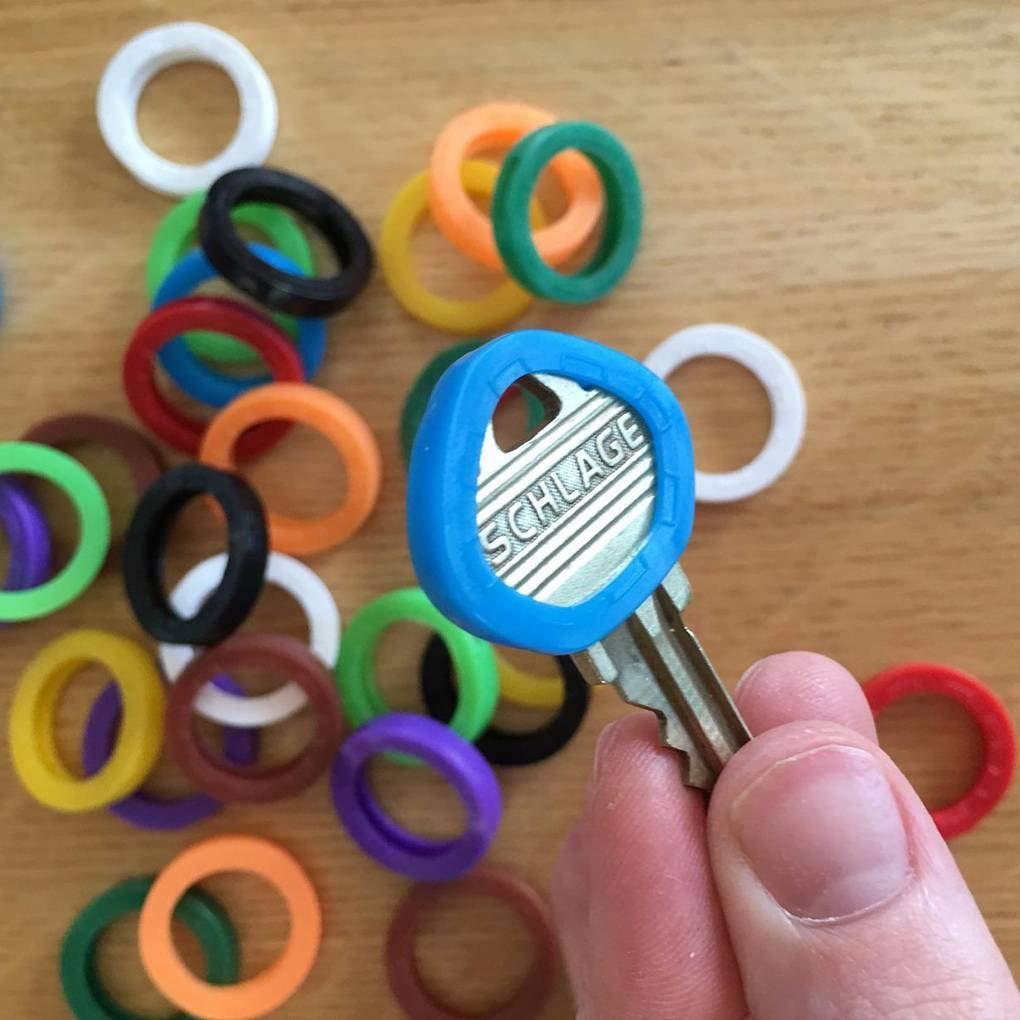 Busirde 24pcs Gomma Universale Mezzotondo Tasto Caps Solida Copertura di Chiave Capo Shell Unisex Regalo Colore Casuale Random Color 25x20x4.5mm