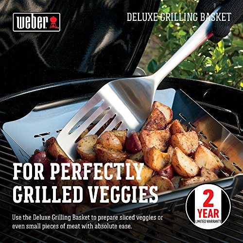Weber Deluxe Grilling Basket, 6434 - coolthings.us