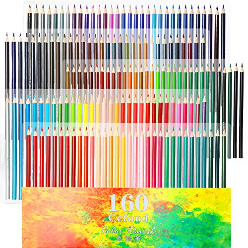160 oily art colored pencils set for children adults coloring