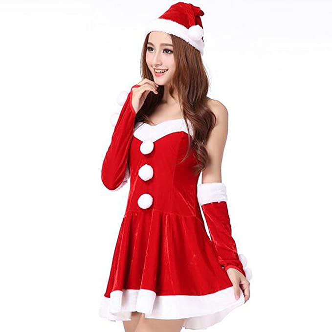 kindoyo christmas costumes womens fun christmas costume dress cosplay girls xmas outfit fancy party