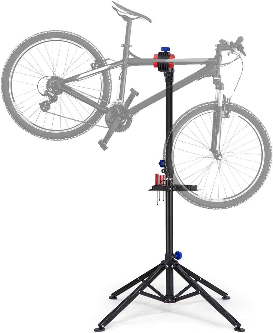 KUOKEL Bike Repair Stand, Foldable Bicycle Repair Rack Workstand, Height Adjustable