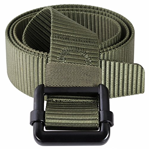squaregarden Nylon Tactical Duty Belt Webbing Military Style Belts for Men (Belt Webbing Stripe)