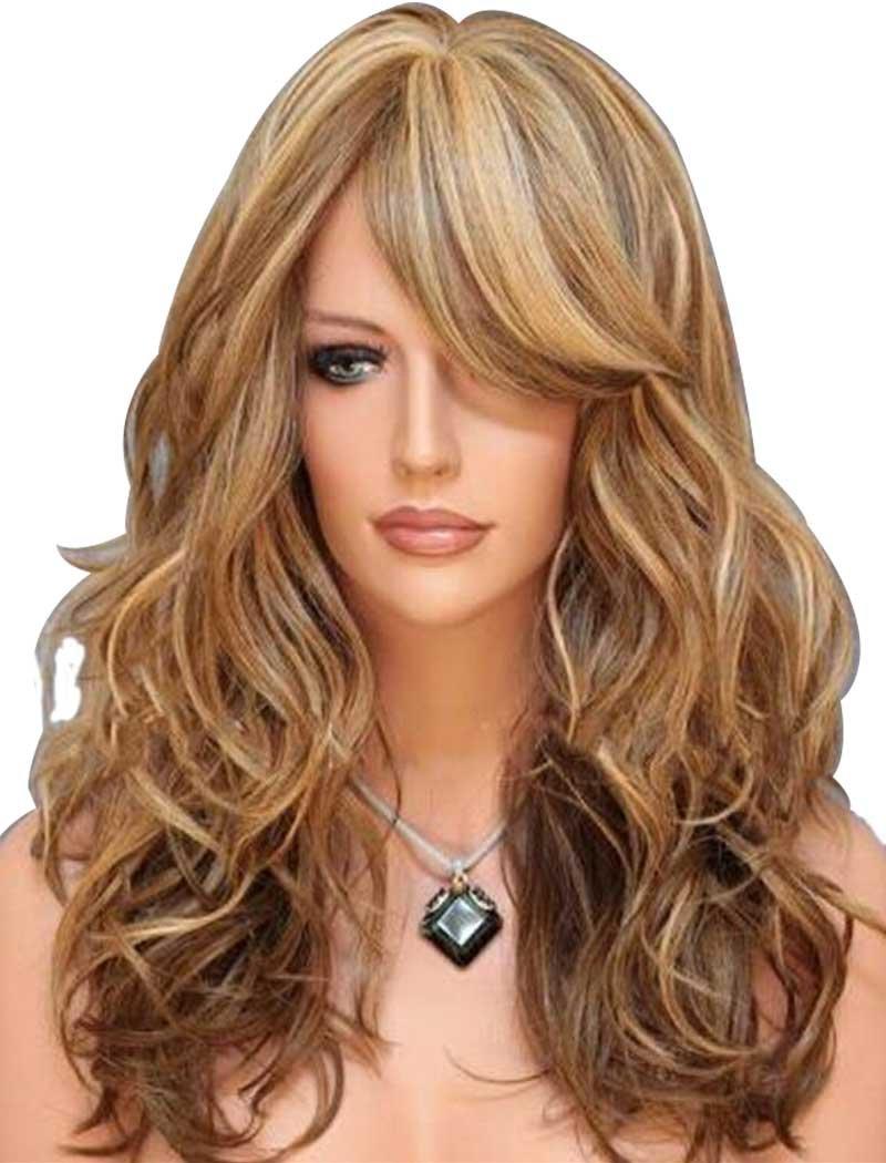 TSNOMORE Long Wavy Natural Synthetic Women Wig (Blond Auburn) bcc11ba033