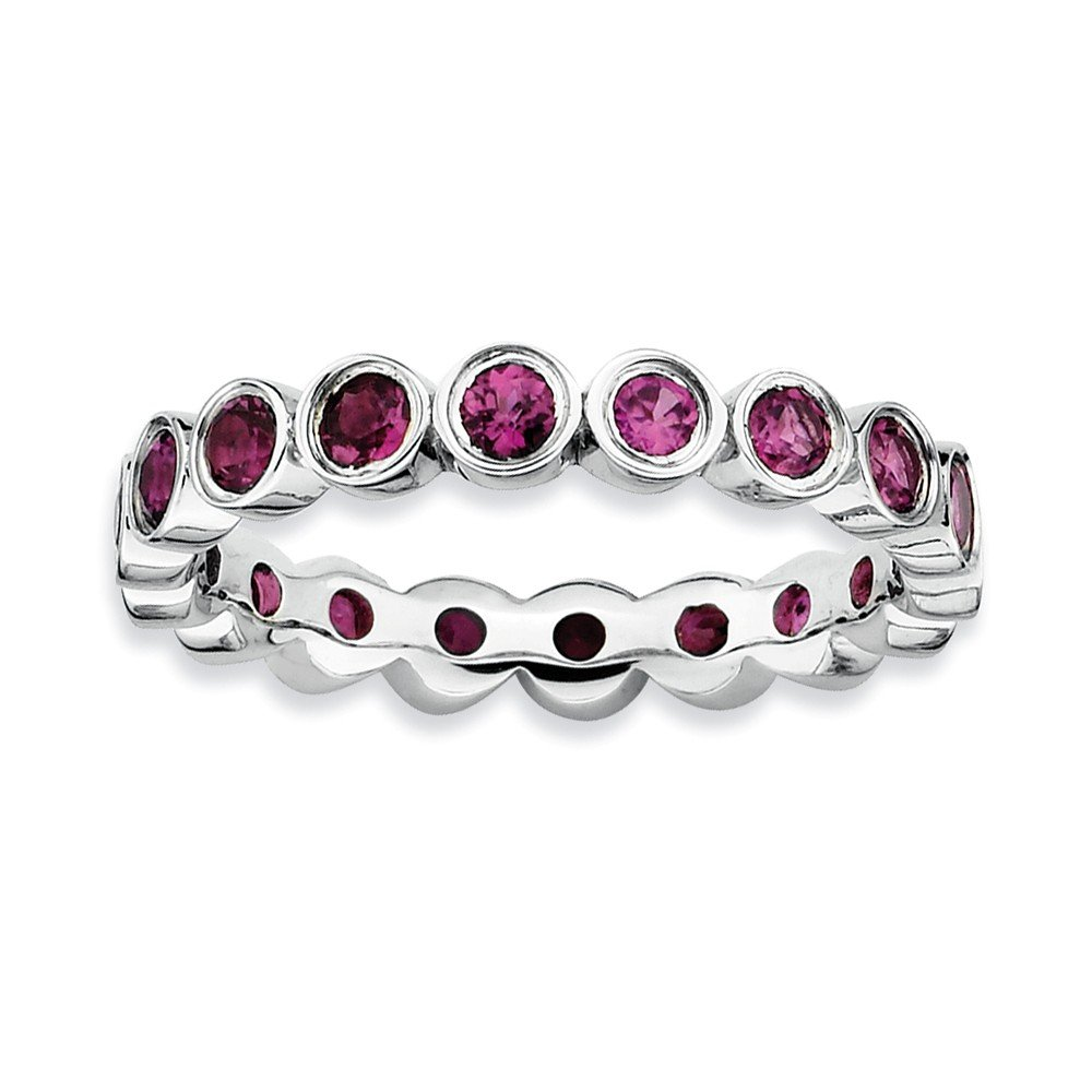 Sterling Silver Stackable Expressions Rhodolite Garnet Ring Size 7