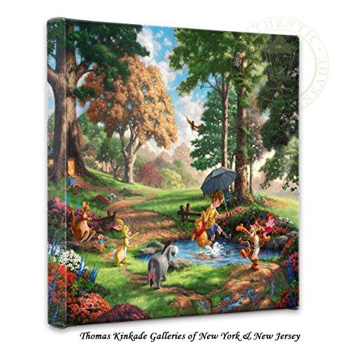 Thomas Kinkade Winnie the Pooh I 14x14 Gallery Canvas (Disney Winnie The Pooh Wall Hanging)