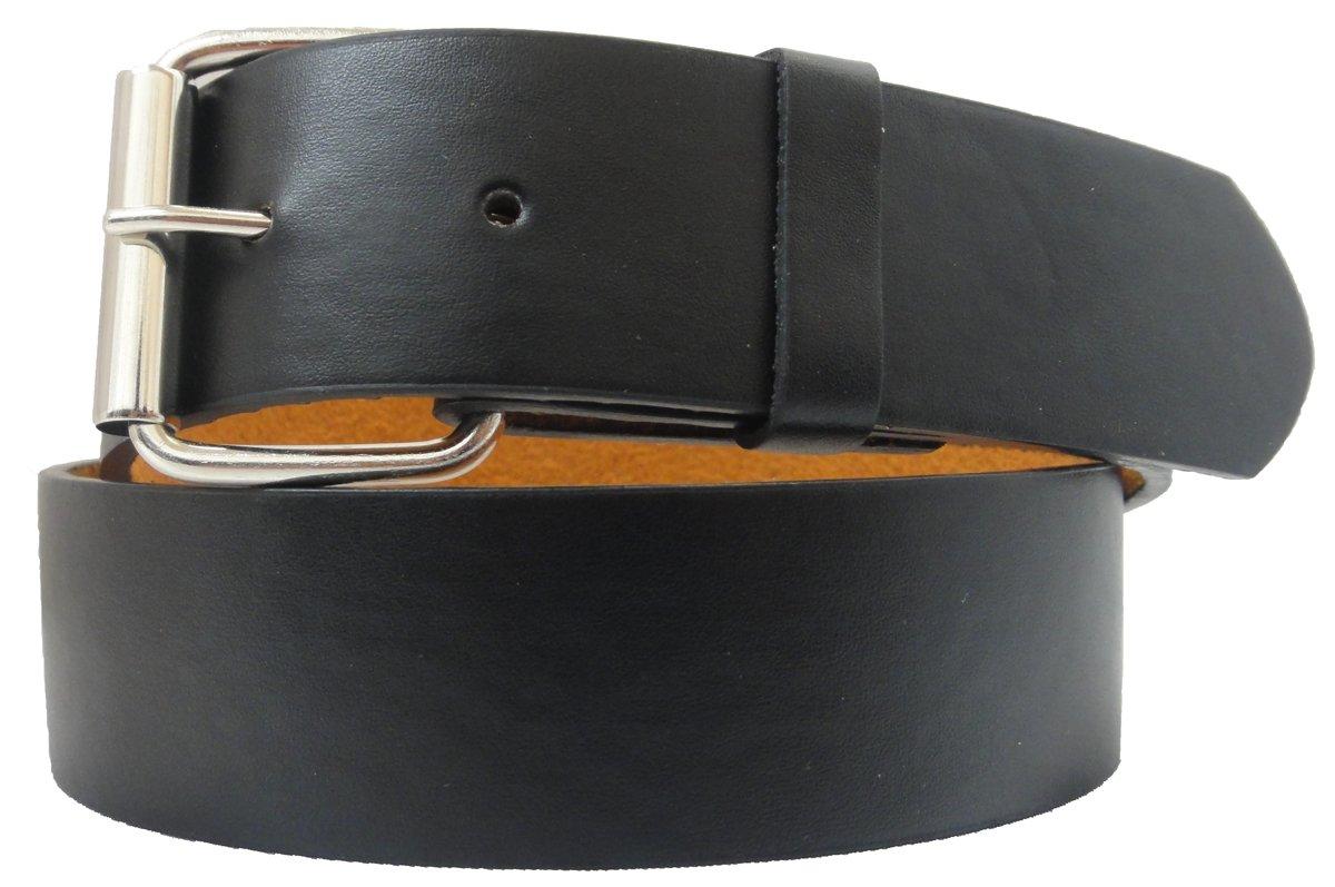 V5 Men's Solid Belt with Removable Buckle and Snap - Medium Black