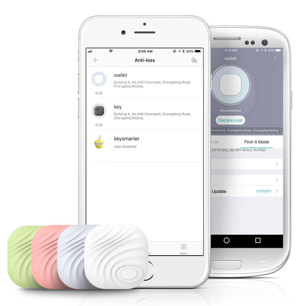 Nut3 Smart Key Finder Bluetooth WiFi Tracker GPS Locator Wallet Phone Key Anti-lost Bidirectional Alarm Reminder (1 pack, White) by Nut (Image #1)