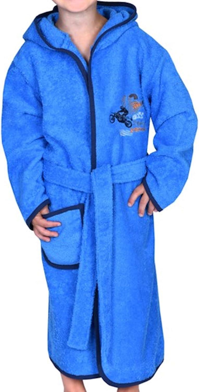 W/örner Jungen Bademantel Motorrad royal blau