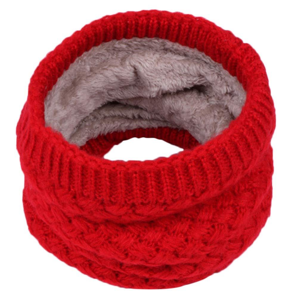 Kids Boys Girls Winter Warm Knit Scarf with Fleece Lining for 3-15 Years Toddler (Purple) Kintaz