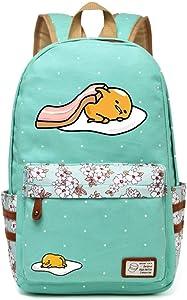 Siawasey Gudetama Lazy Egg Backpack Cartoon Laptop Daypack Shoulder School Bag (A1)