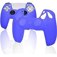 Capa de silicone para controle PS5, capa para controle PS5, acessórios para controle PS5 - azul
