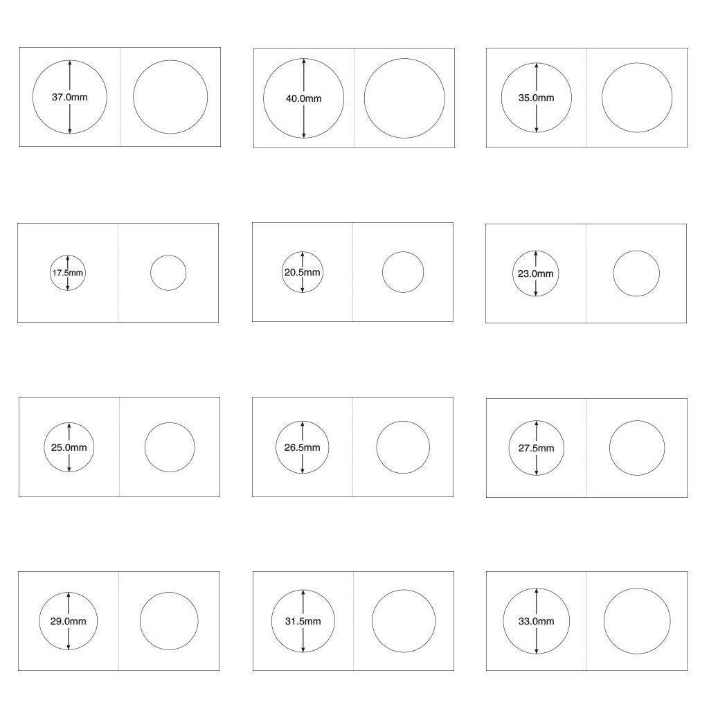 Hellery 2x2 Scatola di Cartone per Monete Collezione di Articoli per Contenitori Mylar 100Pcs