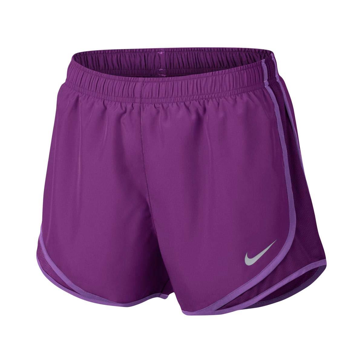 NIKE Womens Tempo Fitness Colorblock Shorts Purple L