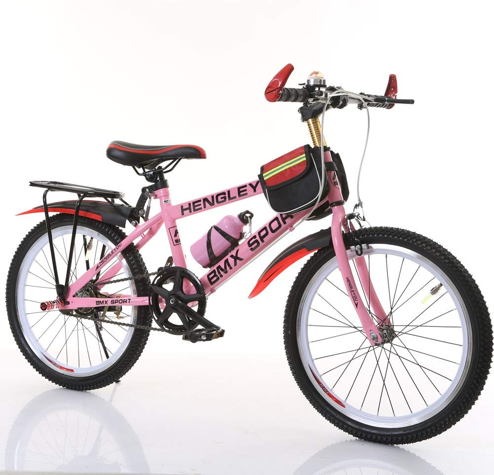 CHS@ 子供の自転車6-7-9-10-15歳の赤ちゃんのキャリッジ18/20/22インチの男の子と女の子の生徒シングルスピードマウンテンバイク 子ども用自転車 (色 : Pink, サイズ さいず : 22