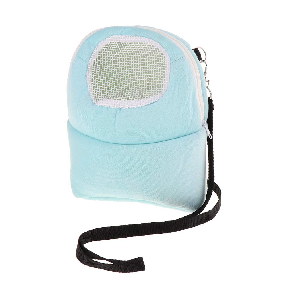 perfk Bolsa de H/ámster Portador Cama Sue/ño Accesorios Mochila de Mascota Conveniente C/ómodo Azul L