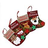 VLUNT 4PCS Calcetines de Navidad Pequeño, 10 x 16cm Calcetines Navideños para Decorar Casa, Media de Navidad Decoración