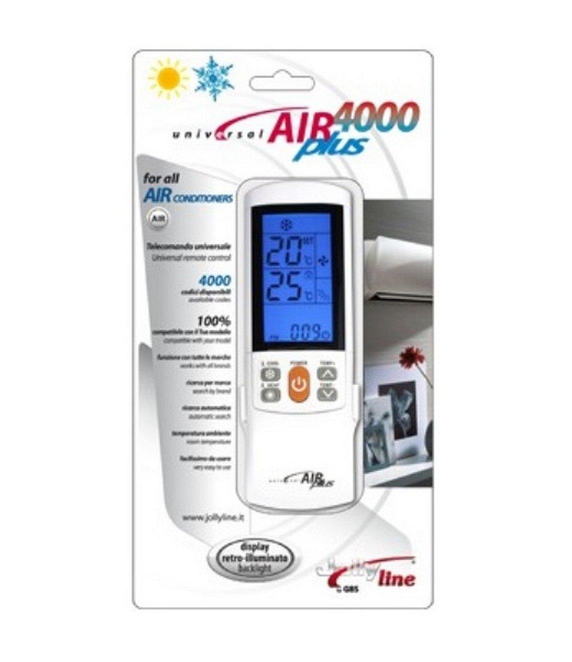 Elcart Telecomando universale per aria condizionata climatizzatore condizionamento Air4000Plus Universal Jollyline
