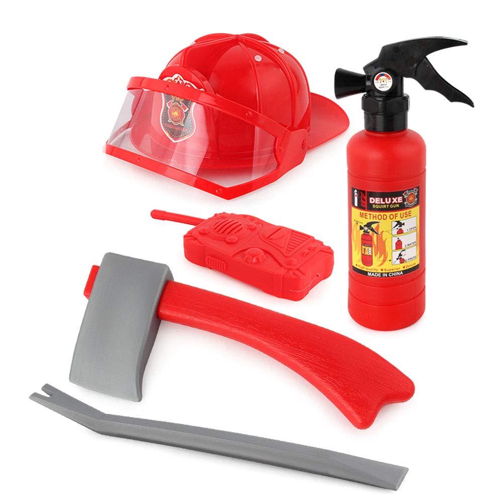 Kawosh 5 Piezas de Juguete de Bombero con Accesorios de Bombero de Juguete extintor de Incendios Juguetes para ni/ños para ni/ños Regalos Fiesta de cumplea/ños