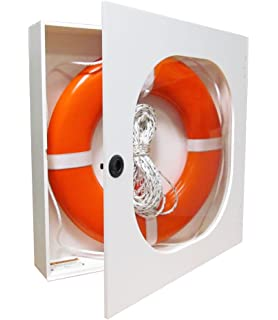 Amazon.com: 24 Inch Life Ring Cabinet with Throw Line and USCG ...