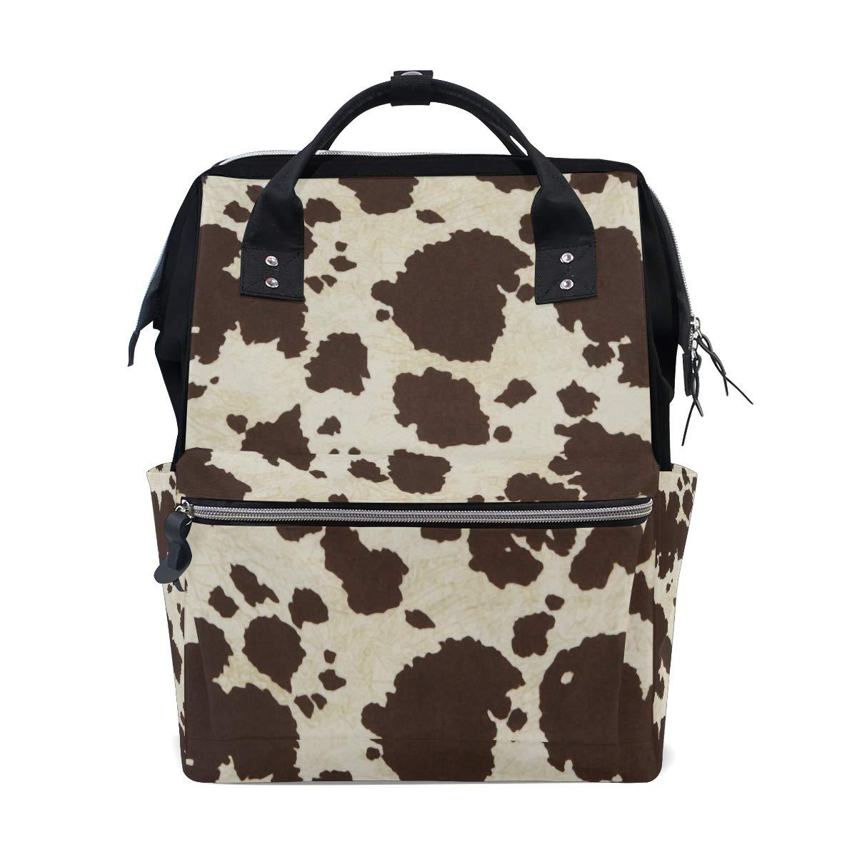 Snake Print Mommy Travel Backpacks Large PU Leather Maternity Nappy Bags UK