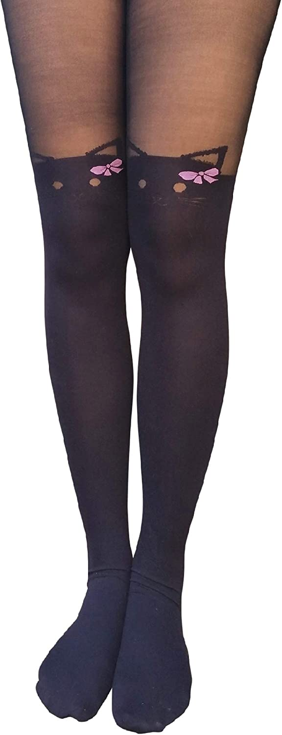 Ladies 70 denier Rocky Horror style print Fang Tights 10-14