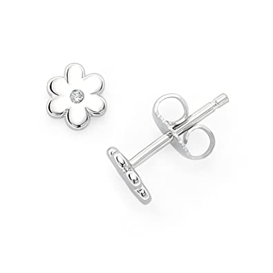03ede57dfe788 Amazon.com: Little Diva Diamonds 925 Sterling Silver .02 Cttw ...