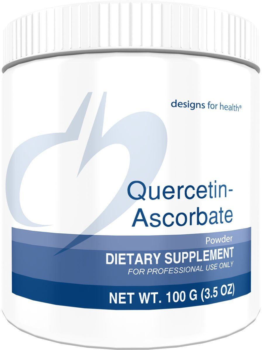 Designs for Health Quercetin-Ascorbate Powder - 500mg Quercetin + Vitamin C for Histamine Balance Support (100g / 100 Servings)