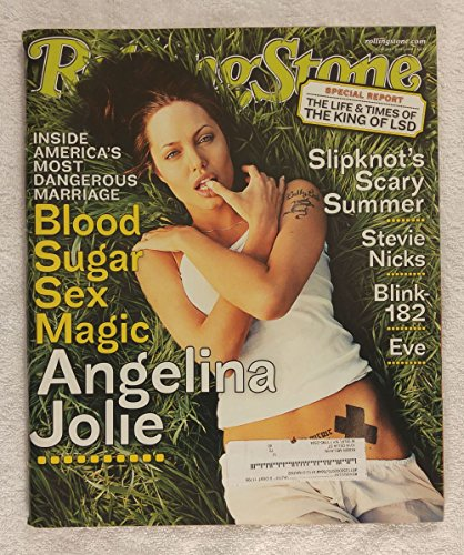 Angelina Jolie - Rolling Stone Magazine - #872 - July 5, 2001 - Special Report: The King of LSD, Slipknot's Scary Summer