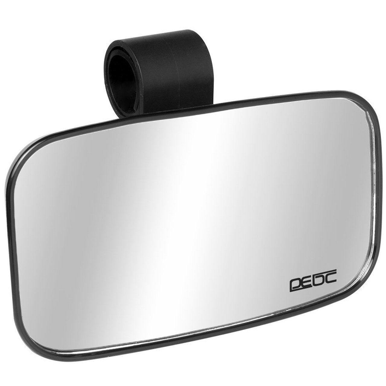 Small UTV Clear Rear View Center Mirror for 1.5' -1.75'- 2' Roll Cage with Shatter-proof Tempered Glass Mirrors for Polaris Ranger RZR Honda Pioneer Can Am Commander Rhino Kubota RTV Offroad Mirrors DEDC