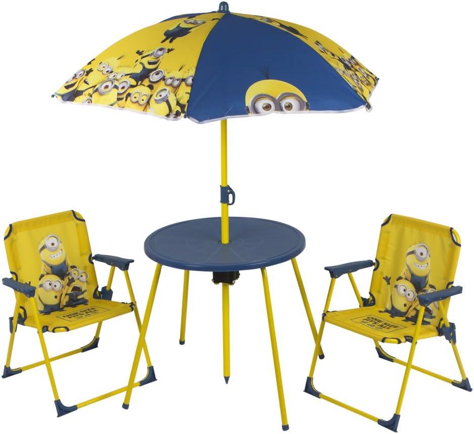 ColorBaby - Set de mesa, sillas y sombrilla, diseño minions (76576): Amazon.es: Juguetes y juegos