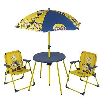 ColorBaby - Set de mesa, sillas y sombrilla, diseño minions ...
