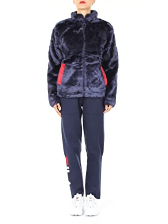 eb8f7e00 Fila Women Arianna high Neck Fur Jacket 684250 003: Amazon ...
